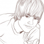 FREE Printable Justin Bieber Coloring Page