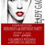 Lady Gaga Party Invitations