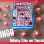 How to make a Bingo Birthday Cake and Cupcakes