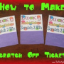 How to Make Scratch Off Lottery Tickets for your Party