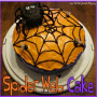 Halloween Spider Web Cake with Spider and edible Flies !!