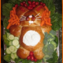 How to Make a Bunny Bread Veggie Tray
