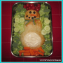 How to Make a Snowman Bread Veggie Tray