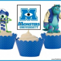 FREE Printable Monsters University Cupcake Toppers