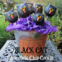 Black Cat Chocolate Chip Cookie Pie Pops