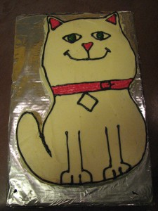 A Purr-Fect Birthday Party Cake