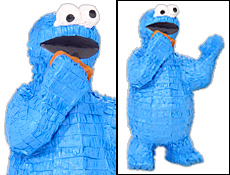 Cookie Monster Birthday Party Pinata