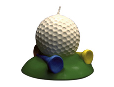 Golf Ball Cake Candle