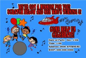 little einsteins party invitations