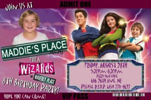wizards of waverly place invitations