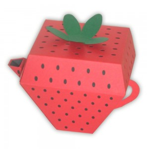 Strawberry Teapot Paper Party Favor Box