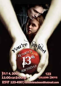 Twilight party invitations