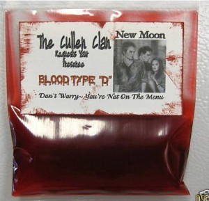 bag of blood twilight invitation