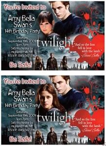 twilight party invitations custom