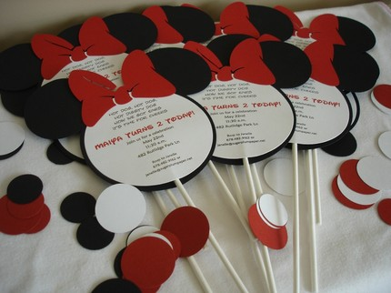 minnie mouse lollipop invitations