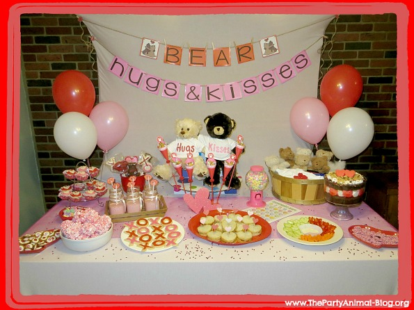 Bear Hugs and Kisses Valentines Day Party