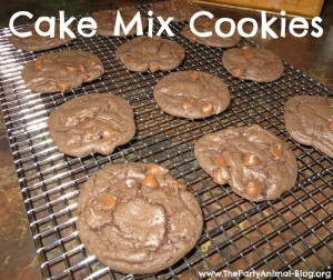 Double Chocolate Cake Mix Cookies