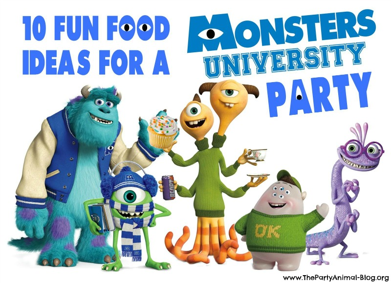 10 Fun Food Ideas For A Monsters University Party Thepartyanimal Blog