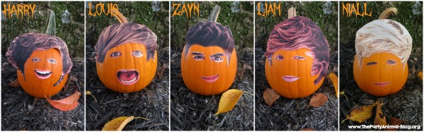 One Direction Pumpkin Faces 1