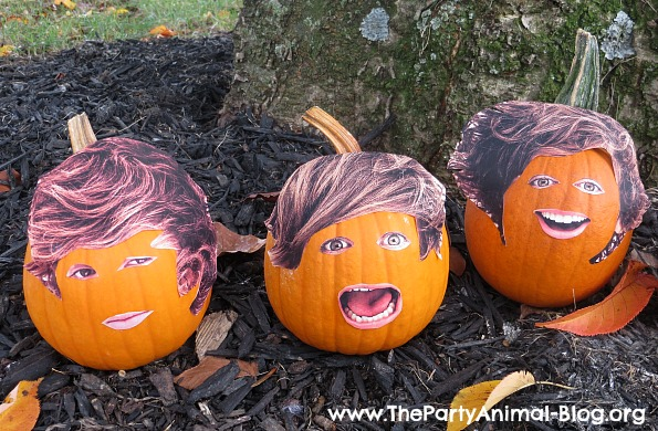 One Direction Pumpkin Faces 2