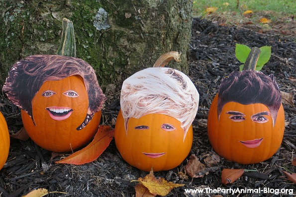 One Direction Pumpkin Faces 3