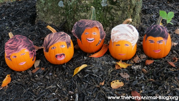 One Direction Pumpkin Faces