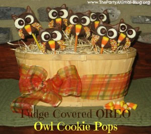 Oreo Owl Cookie Pops