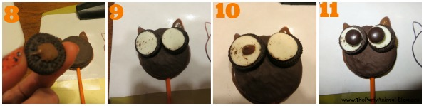 Oreo Owl Cookie Pops 4