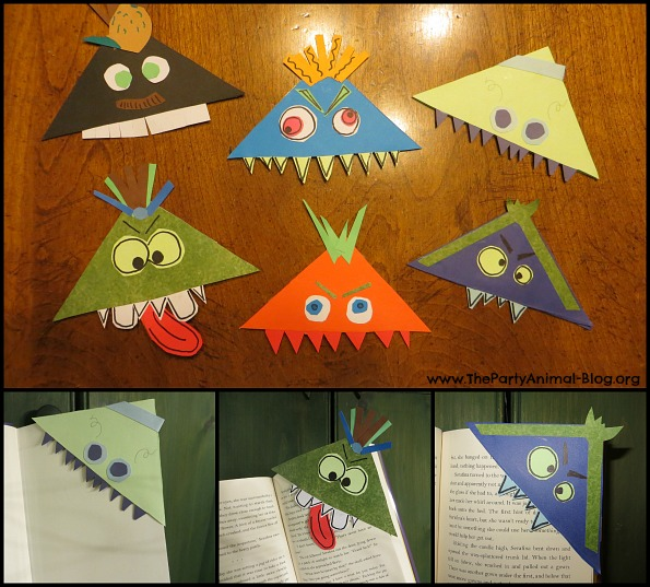 monster bookmark craft 3